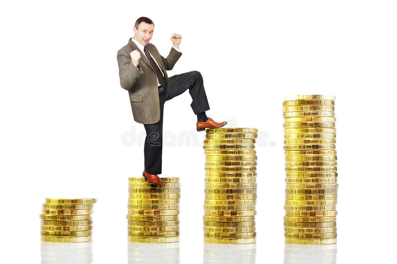 Growth of profit. Conceptual image stock photo