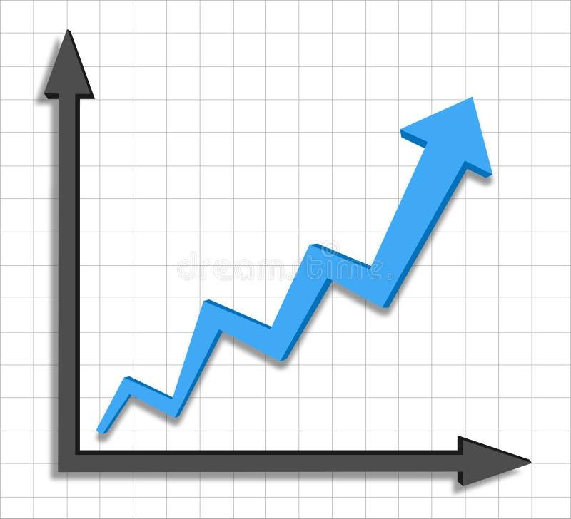 Download Growth Progress Blue Arrow Graph Stock Vector - Image: 32374909