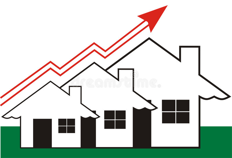 Growth in Real Estate stock image