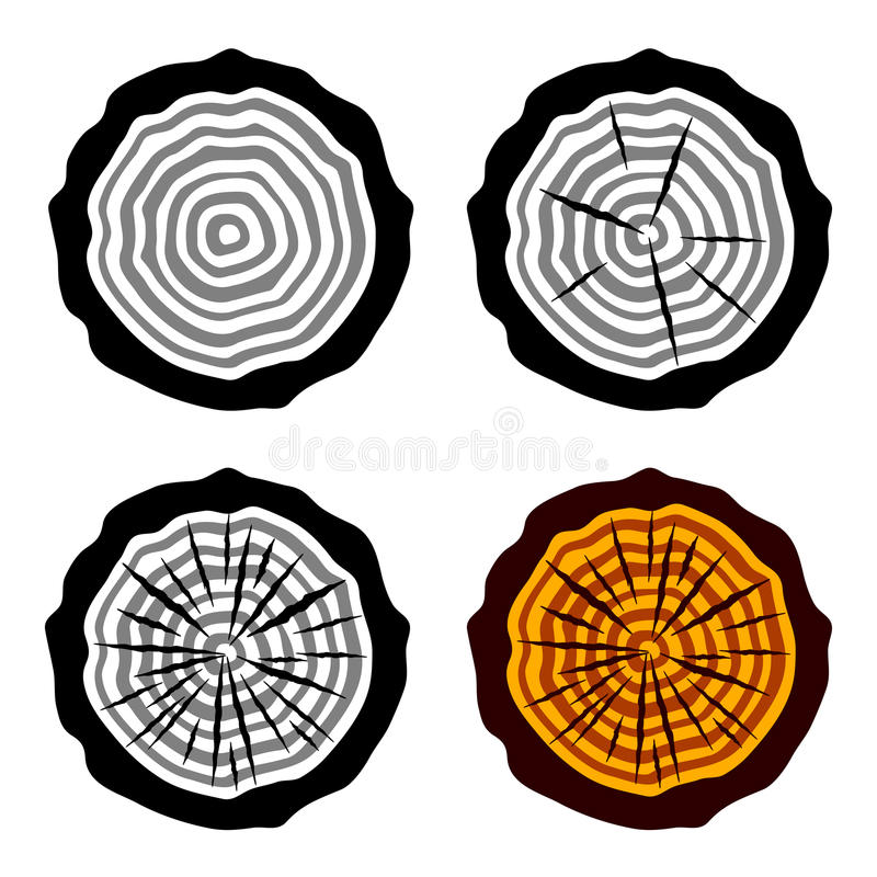 Download Growth Rings Tree Trunk Symbols Stock Vector - Image: 24654595