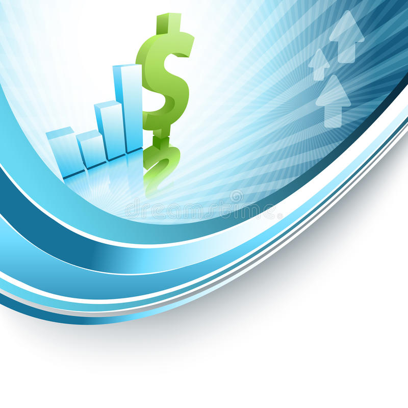 Growth Statistic Financial Frame. Eps10 Stock Images