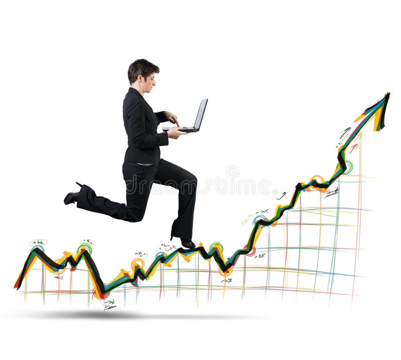 Growth and success in business royalty free stock images