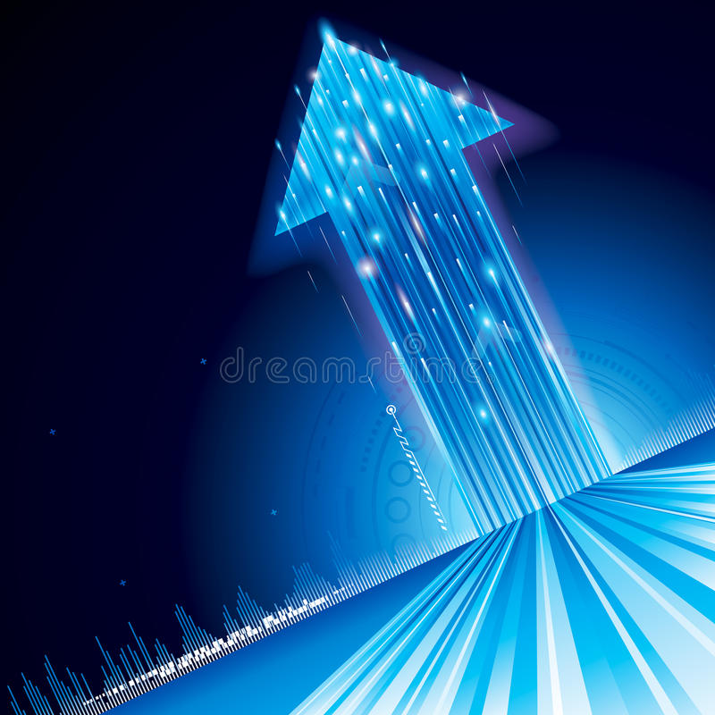 Growth Technology Arrow royalty free stock image
