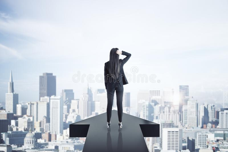 Growth and up concept stock photo