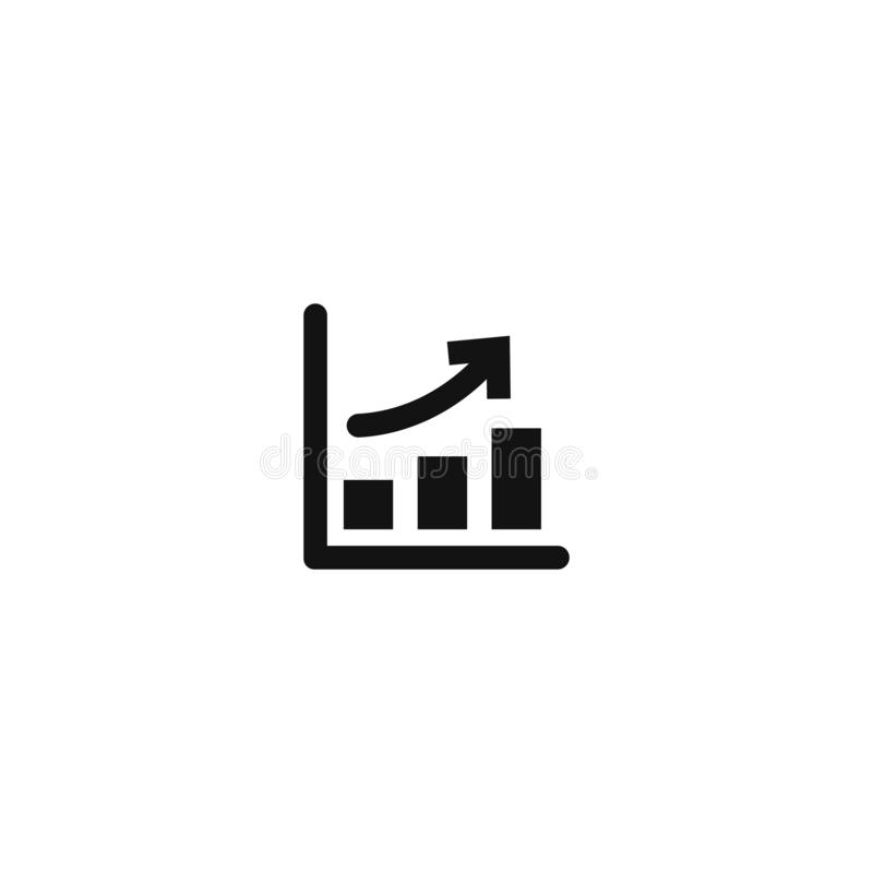 Growth up. vector illustration on white background. Eps10, graphic, icon, concept, arrow, business, data, presentation, report, success, symbol, chart, diagram vector illustration