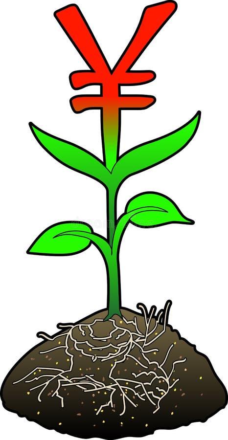 Growth_yen_symbol royalty-vrije illustratie