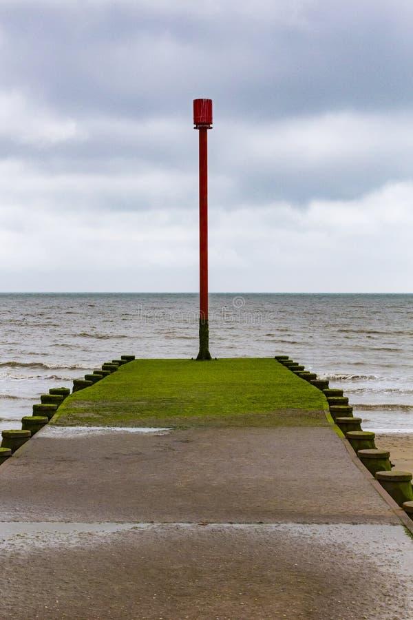 Free Groyne Beacon Near Pevensey Bay Royalty Free Stock Photos - 92221408