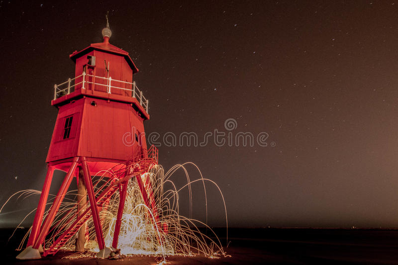 The Groyne in South Shields royalty free stock images