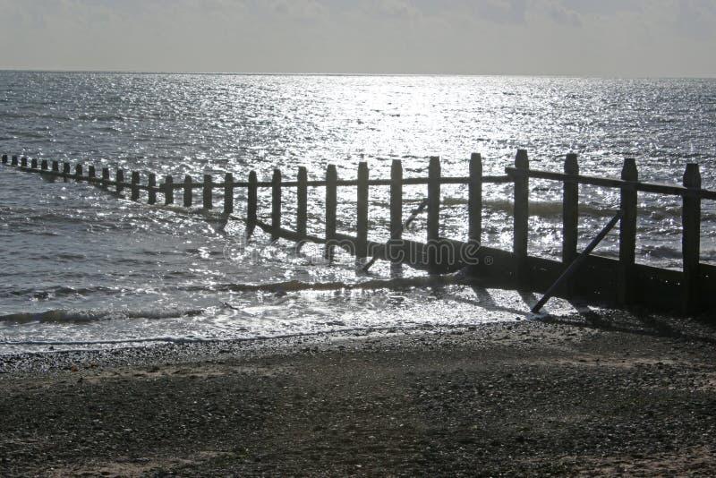 Groynes στην παραλία Dawlish Warren, Devon στοκ φωτογραφία με δικαίωμα ελεύθερης χρήσης