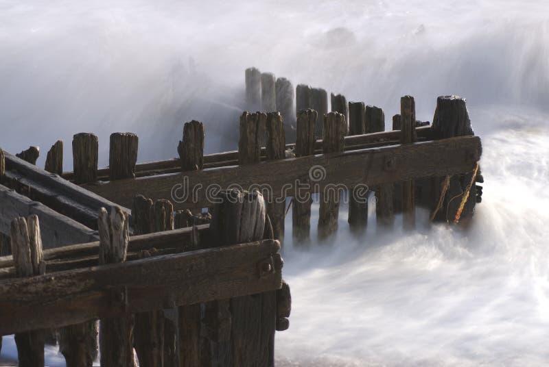 groynes de plage photographie stock