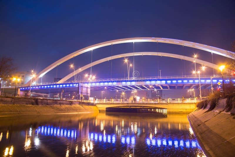 Grozavesti Bridge, Bucharest stock photography
