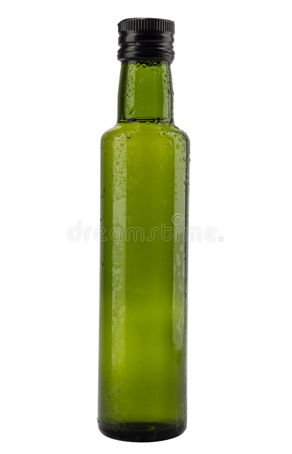 Grren bootle with drops isolated stock images