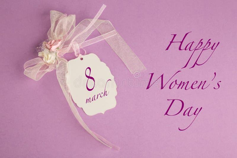 Gruß der Frauen Tages stockbild
