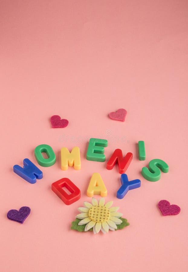 Gruß der Frauen Tages lizenzfreies stockbild