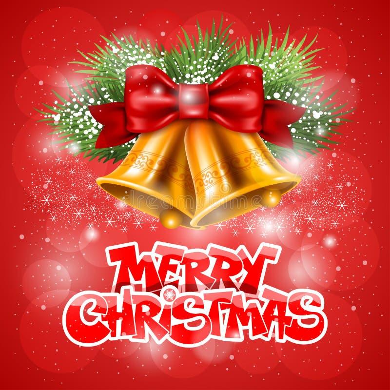 Gruß der frohen Weihnachten lizenzfreie abbildung