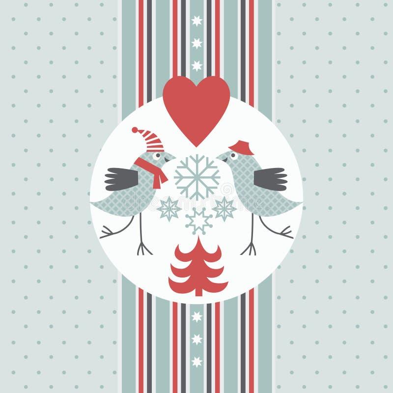 Gruß-Weihnachtskarte lizenzfreie abbildung