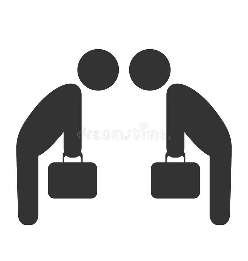 Grußetiketten-Geschäftslageikone lokalisiert auf Weiß lizenzfreie abbildung