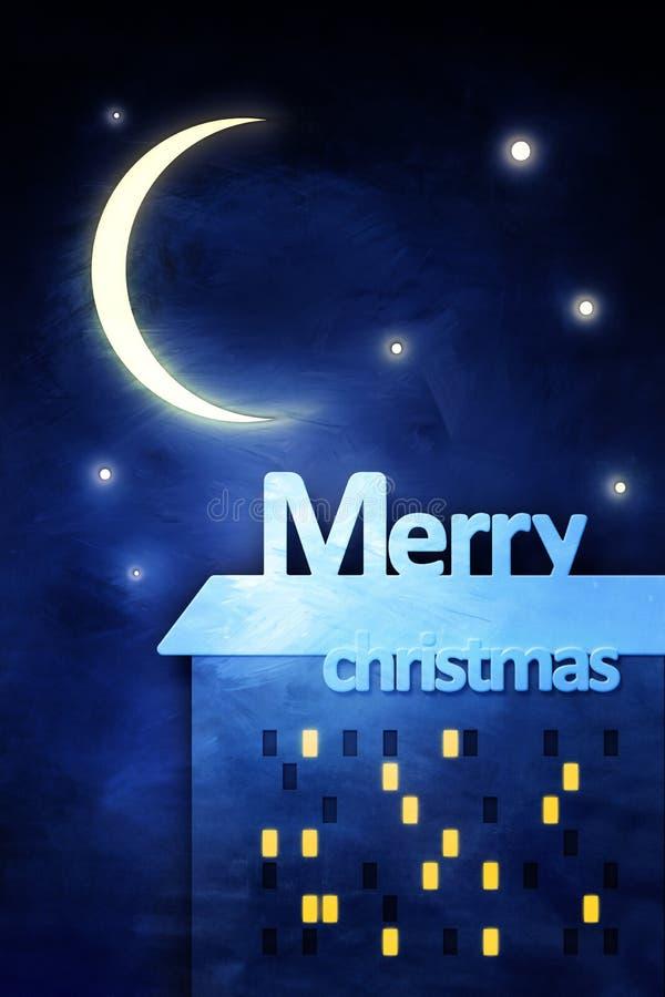Grußkarte der frohen Weihnachten lizenzfreie abbildung