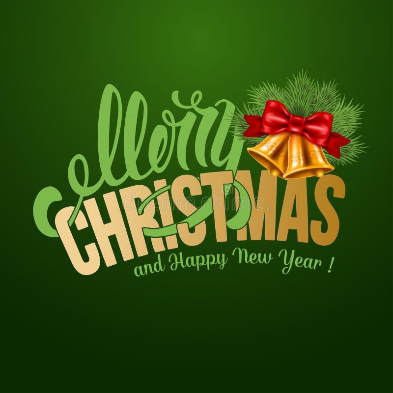 Grußkarte der frohen Weihnachten vektor abbildung