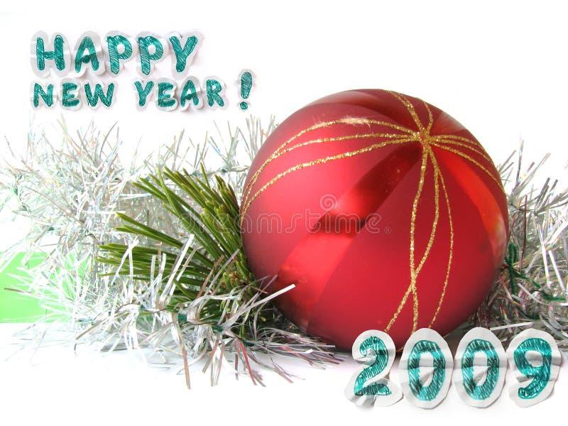 Grußkarte des neuen Jahres lizenzfreies stockbild