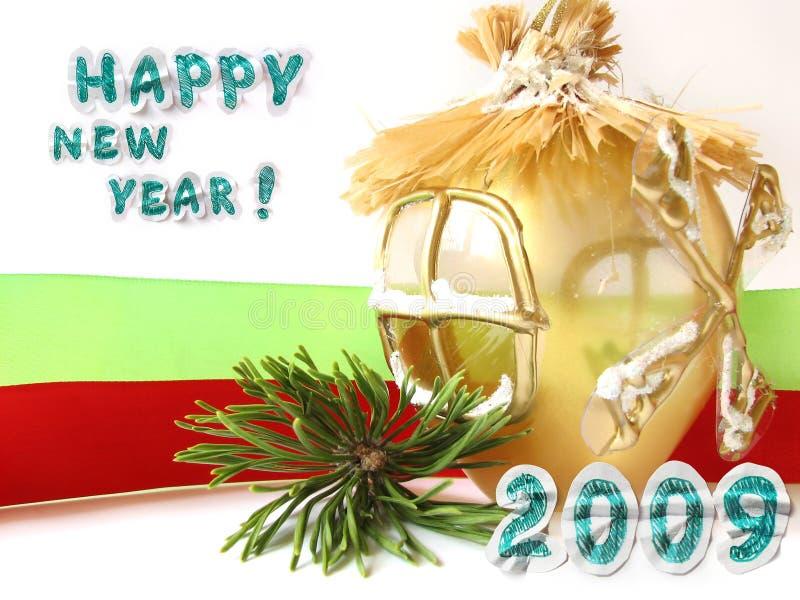 Grußkarte des neuen Jahres lizenzfreie stockfotografie
