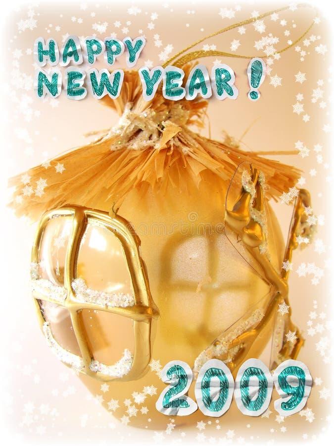 Grußkarte des neuen Jahres stockfotografie