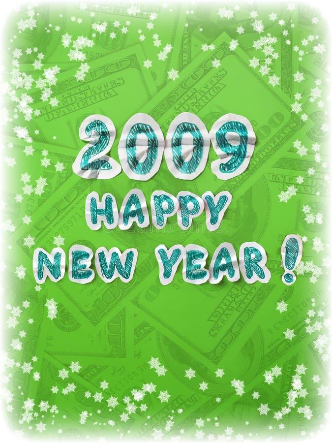 Grußkarte des neuen Jahres stockbild