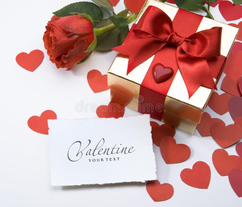 Grußkarte des Valentinsgrußes lizenzfreie stockfotografie