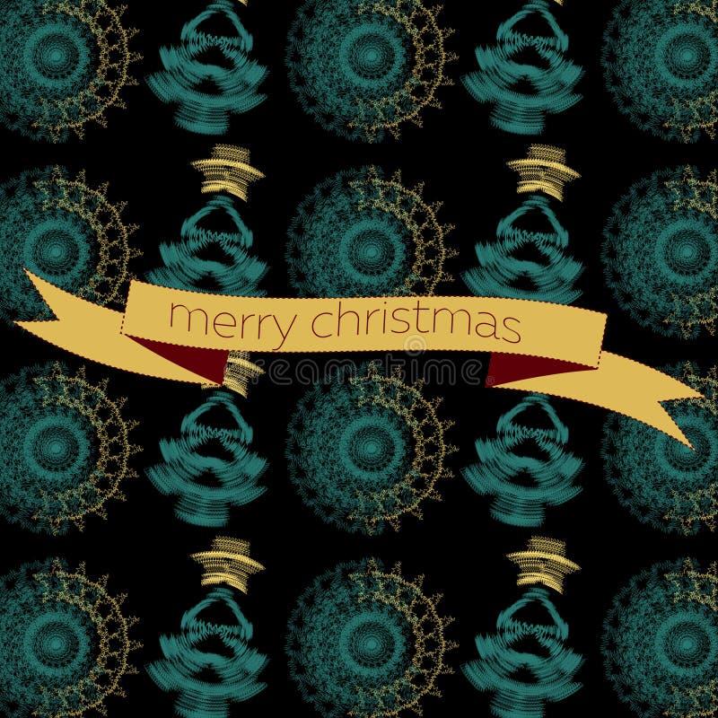 Grußkarte des Vektors nahtlose Weihnachts lizenzfreie abbildung