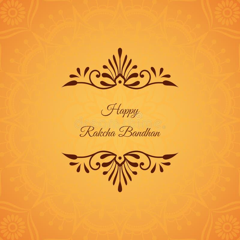 Grußkarte für indischen Feiertag Raksha Bandhan mit dekorativem stock abbildung