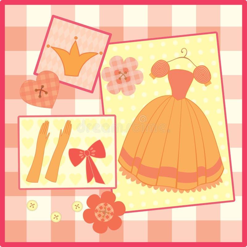 Grußkarte für kleine Prinzessin stock abbildung