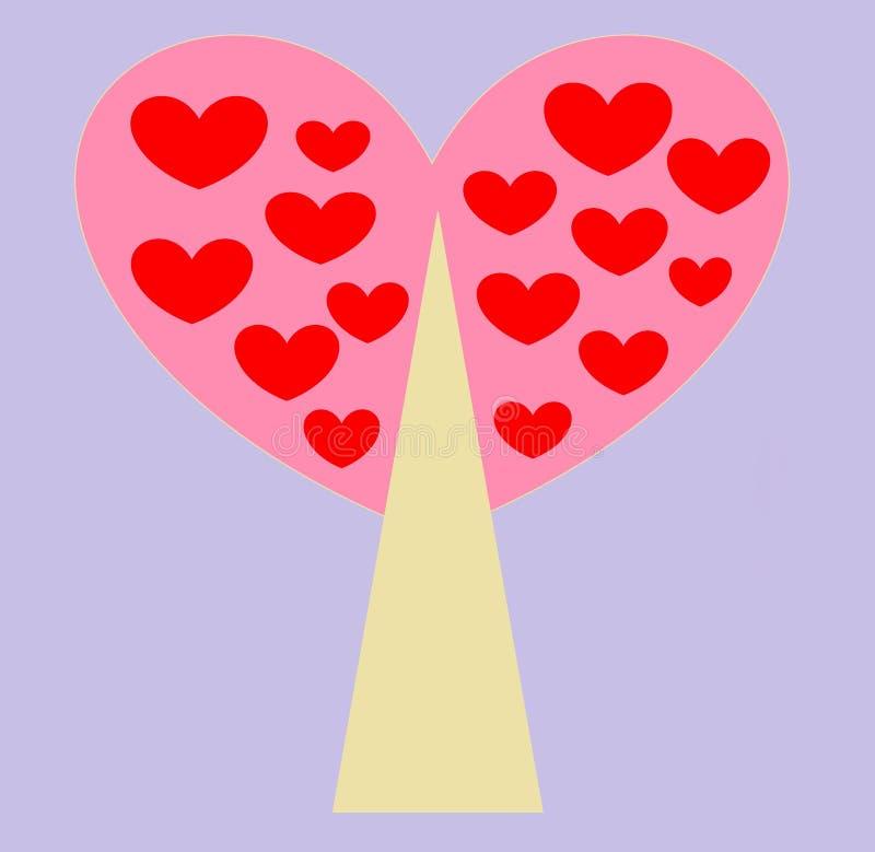Grußkarte für Valentinsgruß `s Tag stockfoto