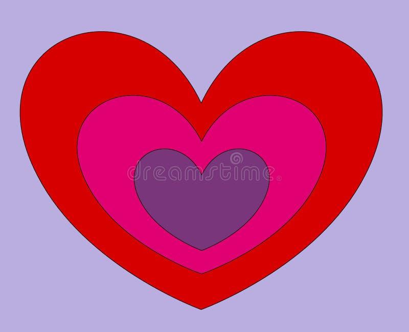 Grußkarte für Valentinsgruß `s Tag lizenzfreies stockfoto