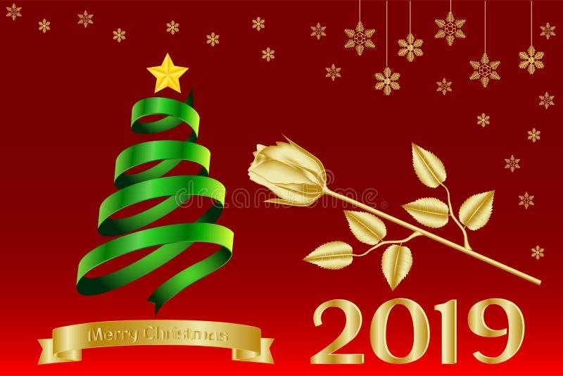 Kalender Weihnachten 2019.Grußkarte Fahne Kalender Mit Goldene Aufschrift Frohen Weihnachten