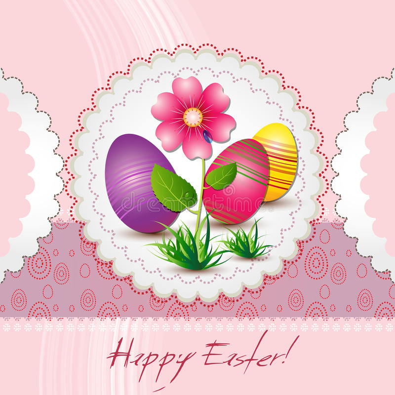 Download Grußkarte fröhliche Ostern vektor abbildung. Illustration von dekorationen - 26370904