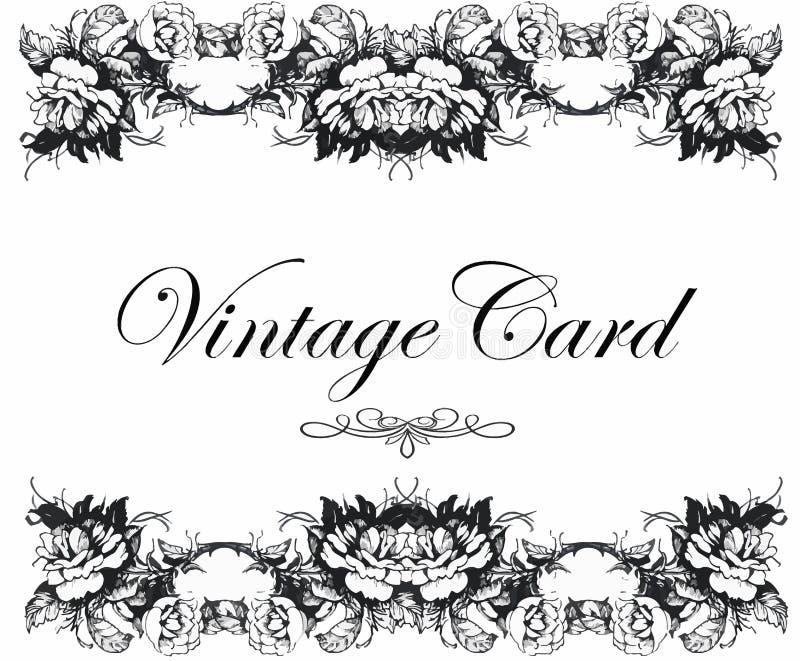 Grußkarte Mit Blumen, Aquarell, Kann Als Einladungskarte Für Die Heirat,  Geburtstag Und Anderen Feiertag Benutzt Werden