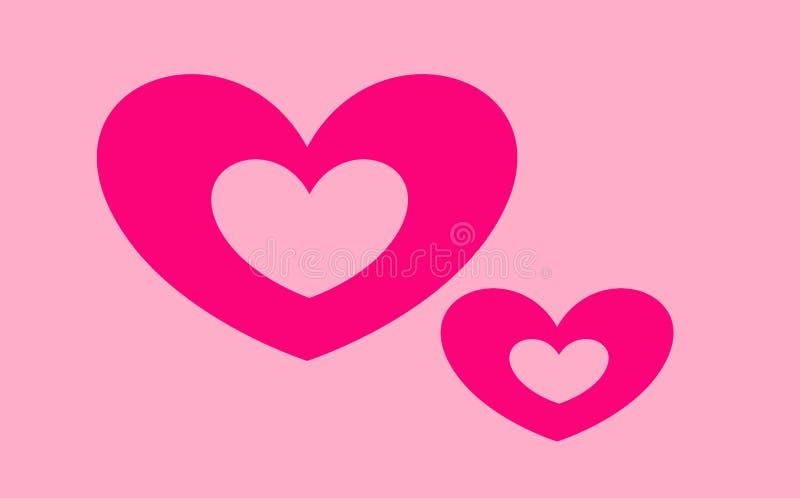 Grußkarte mit Herzen für Valentinsgruß ` s Tag lizenzfreie stockfotos