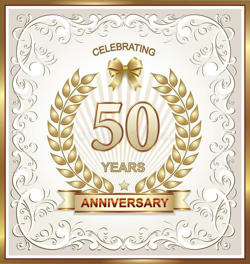 Grußkarte mit Jahrestag 50 stock abbildung