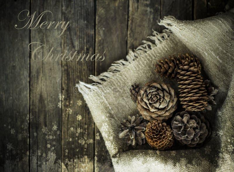 Grußkarte mit Weihnachten lizenzfreie stockfotografie