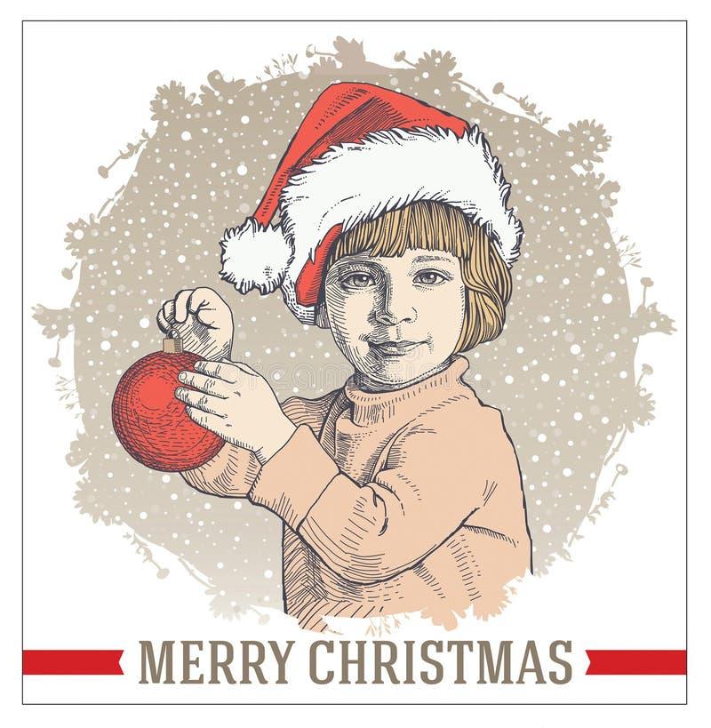 Grußkarte, Rahmen Frohe Weihnachten Des Glücklichen Neuen Jahres ...