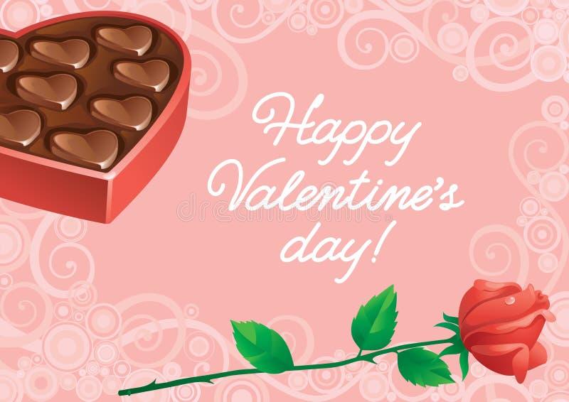Grußkarte an Valentinsgruß ` s Tag vektor abbildung