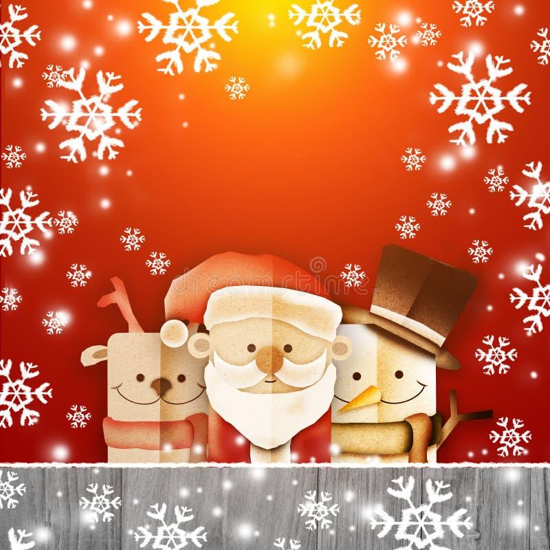 Grußkarte, Weihnachtskarte mit Santa Claus vektor abbildung