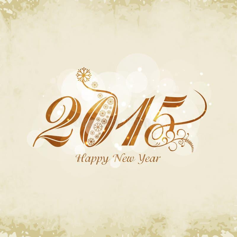 Grußkartendesign für guten Rutsch ins Neue Jahr-Feiern lizenzfreie abbildung