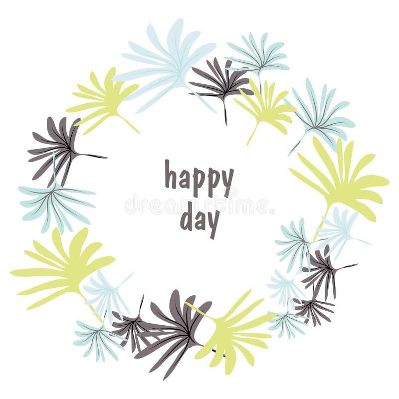 Grußkartenentwurf mit Blumenmit buchstaben gekennzeichnetem Text der dekoration und der Hand Hand gezeichnete Einladungs- oder Gr lizenzfreie abbildung