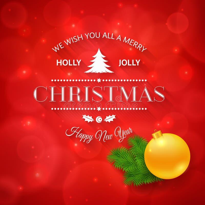Grußlogo der frohen Weihnachten auf buntem Hintergrund vektor abbildung
