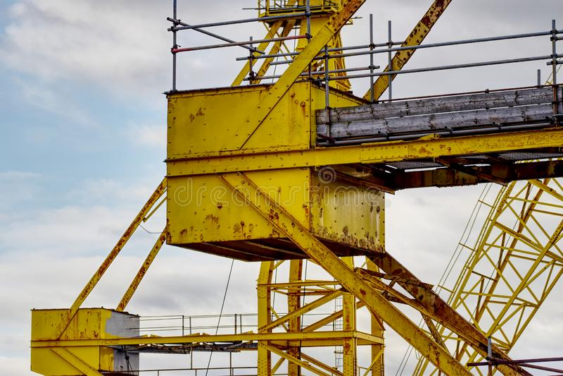 Gru a Birkenhead immagini stock libere da diritti
