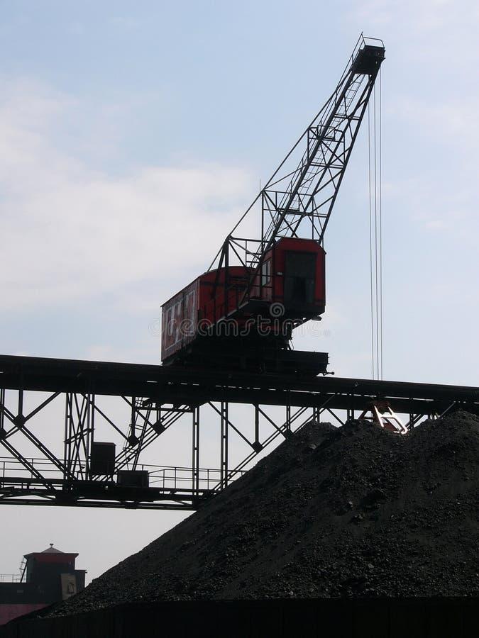 gru del carbone immagine stock libera da diritti
