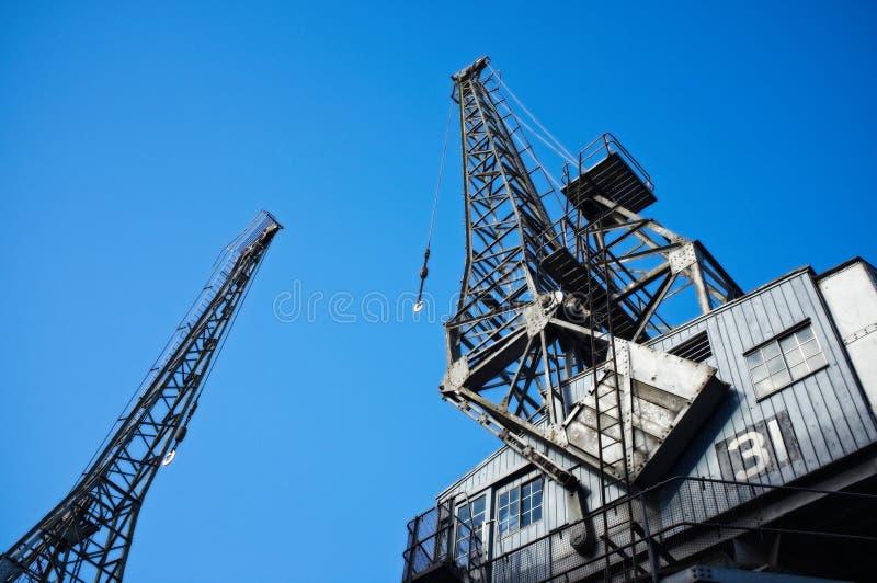 Gru del carico a Bristol Docks immagini stock libere da diritti
