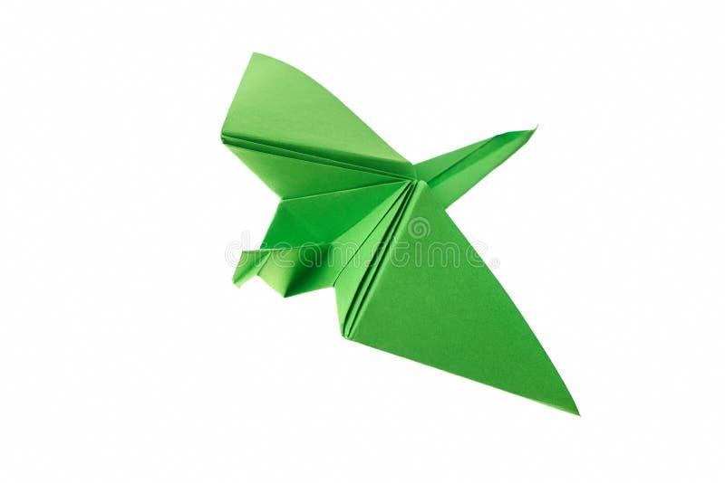 Gru del Libro Verde su bianco immagine stock