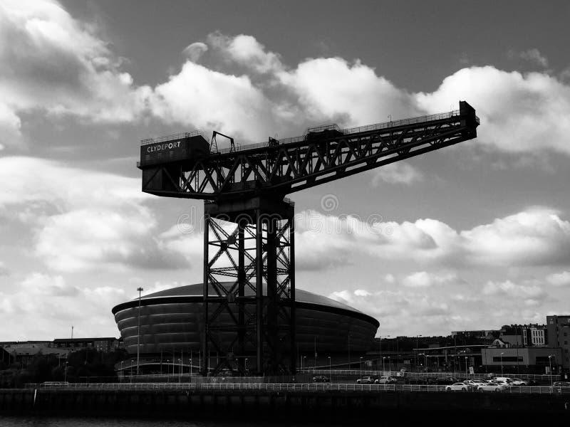 Gru ed idro del finneston di Glasgow fotografia stock libera da diritti